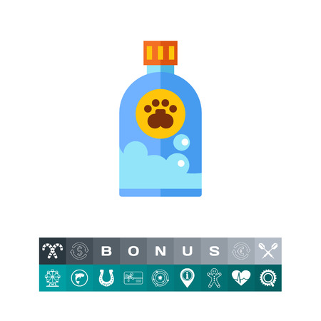 Icon of pet shampoo. Soap, cosmetics, grooming. Bath time concept. Can be used for topics like hygiene, cleanness, pet shop