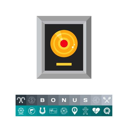 Platinum lp in silver frame icon Banque d'images - 84062843