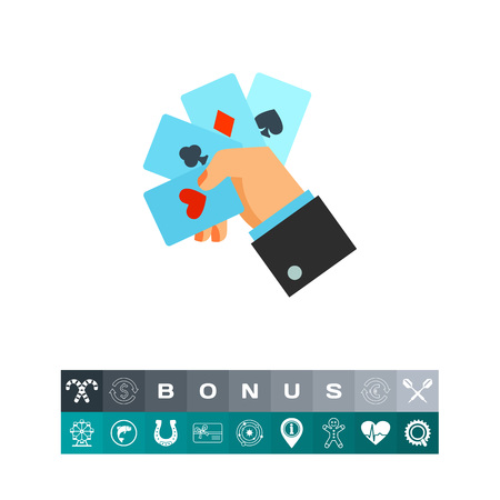 Playing card icon Illustration
