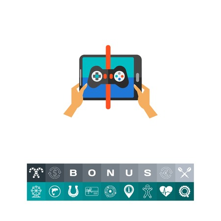 mobile app: Playing game on touchpad icon