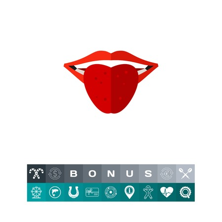Red tongue icon