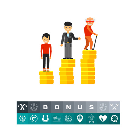Retirement Money Plan Concept Icon Illustration