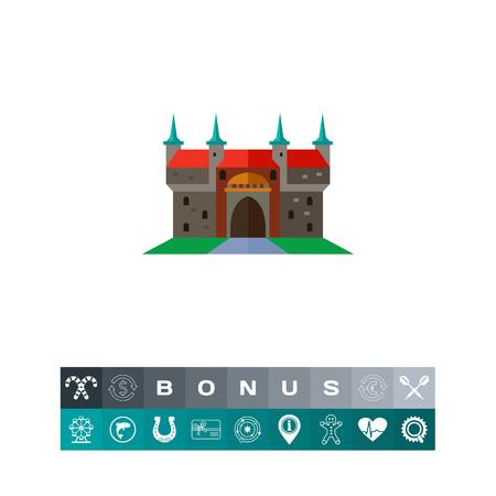 Barbican in Krakow vector icon