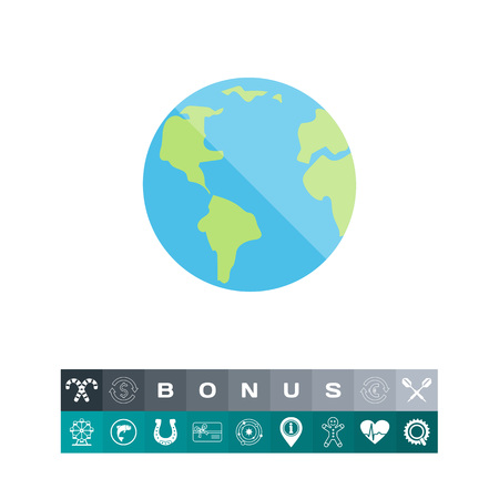 Planet Earth icon Illustration