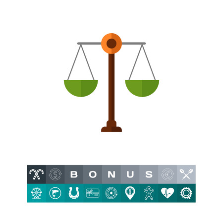 scale of justice: Scales icon Illustration