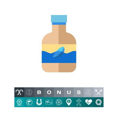 Lens liquid icon Illustration