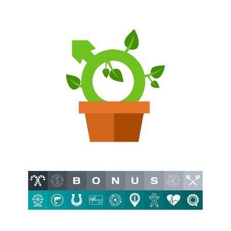Libido as growing houseplant icon