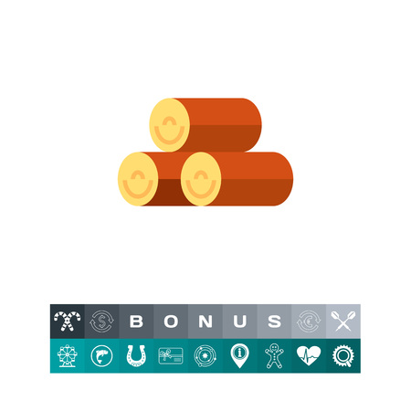 Pile of logs icon