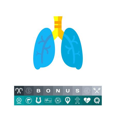 Lungs icon illustration. Illustration