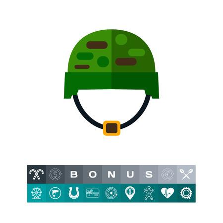 Soldiers helmet vector icon