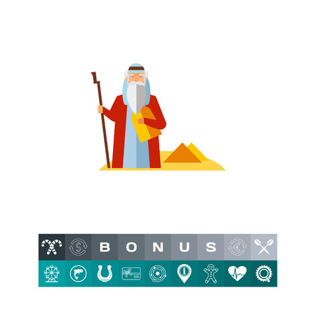 Moses in Desert Icon