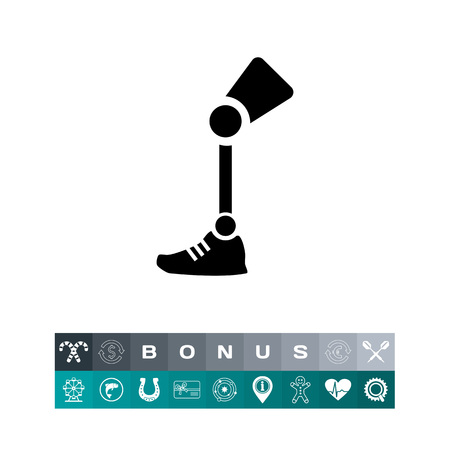 Prosthesis leg icon Illustration