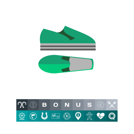 mobile app: Modern summer shoes. Foot, style, unisex. Summer footwear concept. Can be used for topics like summer, vacation, footwear.