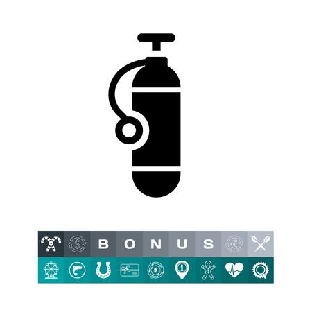 Tauchflaschen-Icon Vektorgrafik