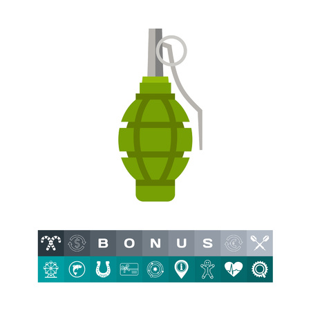 Isolated Grenade Icon