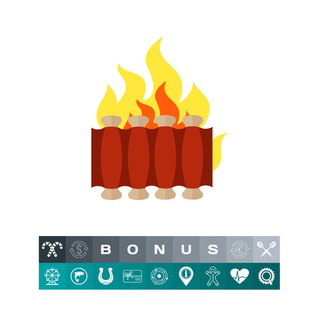 Barbecue ribs icon