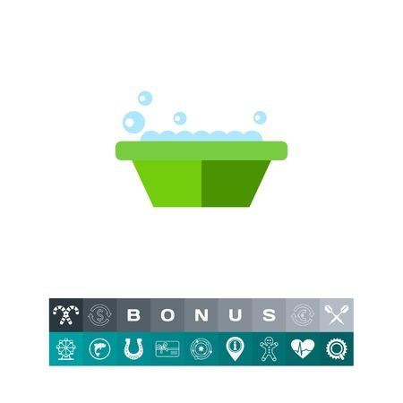 lavamanos: Cuenca con jabón icono
