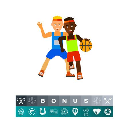 Basketball Game Vector Icon