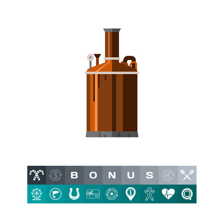 Brewery equipment icon Illustration