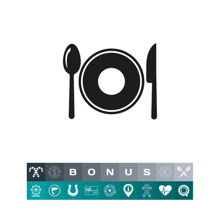 domestic: Cutlery with plate icon