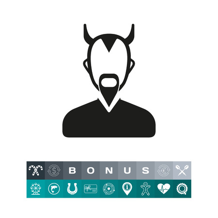 Daimon simple icon Illustration