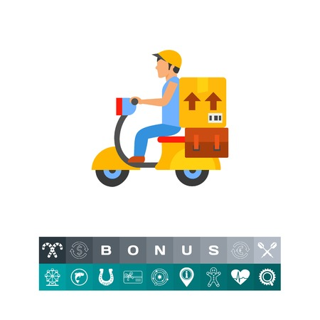 postcard box: Delivery service icon Illustration
