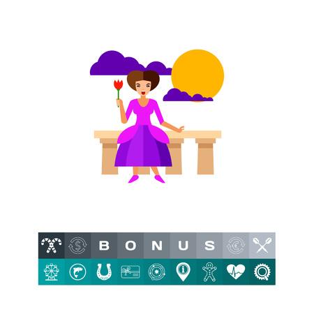 actress: Female singer performance icon Illustration