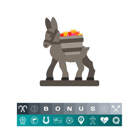 Figurine donkey icon