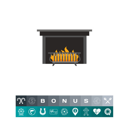lounging: Fireplace grate icon
