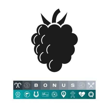 Icon of fresh berry. Dessert, crop, summer. Allergy concept. Can be used for topics like food, garden, healthy eating