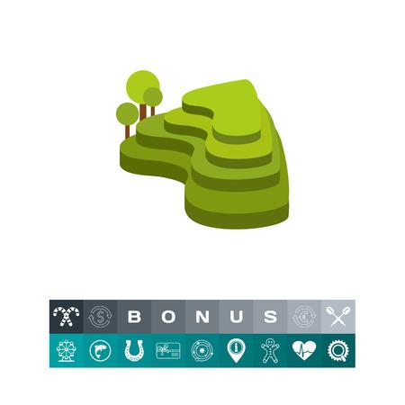 Groene rijstterrassen icoon