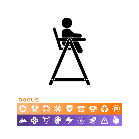 Baby Chair Simple Icon vector illustration on white background. Illustration