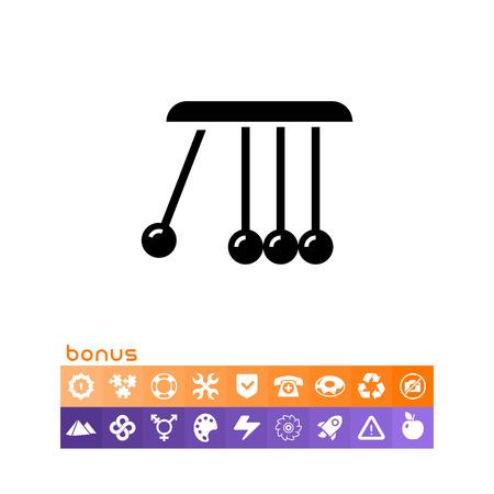 Balancing balls icon vector illustration on white background.