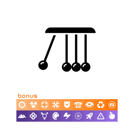 Balancing balls icon vector illustration on white background.