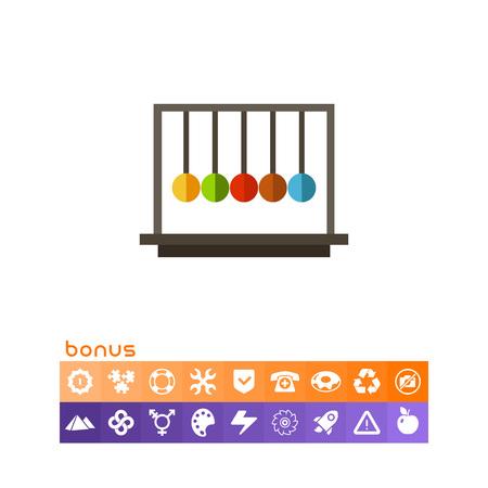 pendulum: Balancing balls icon vector illustration on white background.