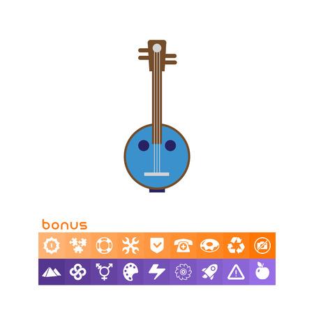 Icon of light blue banjo instrument