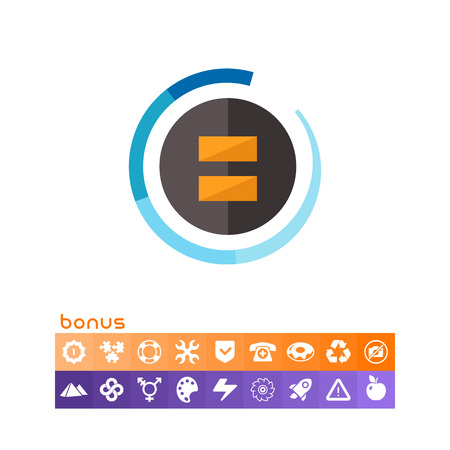 A multicolored vector illustration of a Black fader icon with bonus icon element