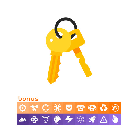 Bunch of two keys. Protection, locking, house. Key concept. Can be used for topics like finance, technology, business.