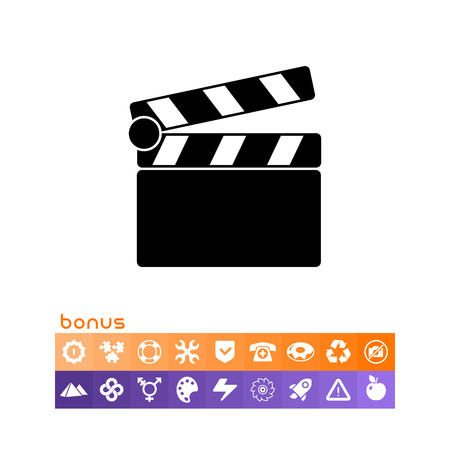 film industry: Clapperboard simple icon