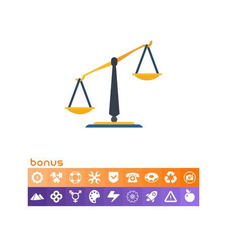 Classic balance icon Vektorové ilustrace