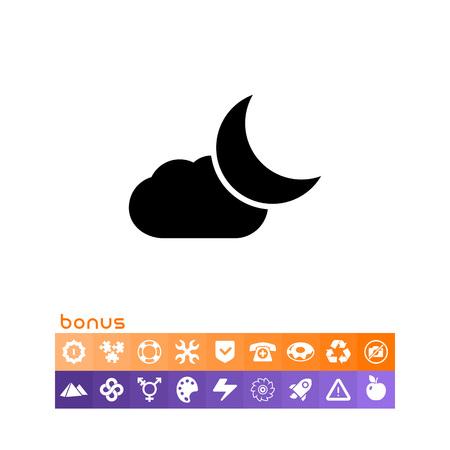 Cloudy at night 向量圖像