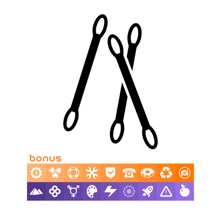 Cotton swabs icon. Illustration