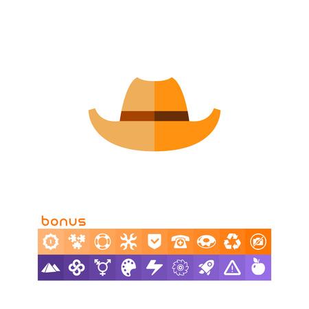 Cowboy Hat Icon.