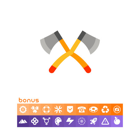Crossed Lumberjack Axes Icon.
