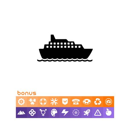 recess: Cruise Liner Icon. Illustration