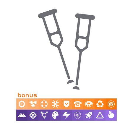 Crutches icon.