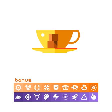 Cup Vector Icon.