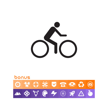 Cycler riding bicycle.