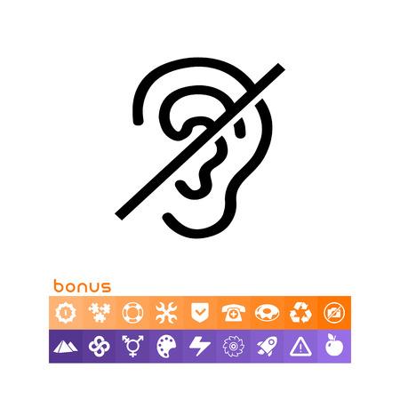 Deaf sign icon. Illustration