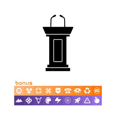 Debate stand simple icon. Ilustrace